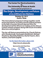 Lithium-ion Battery Symposium flyer